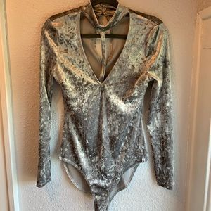 Sassy Velvet Bodysuit